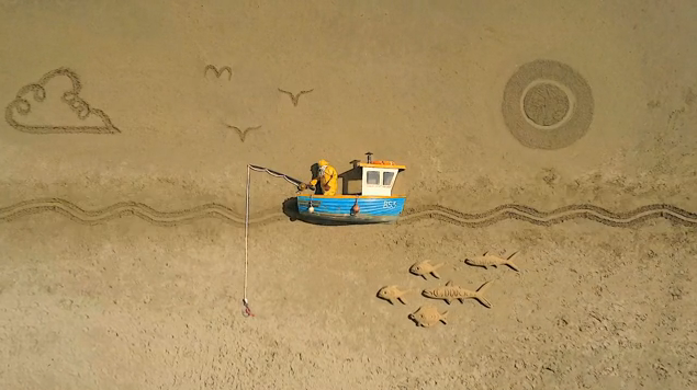 Gulp. The world's largest stop-motion animation.