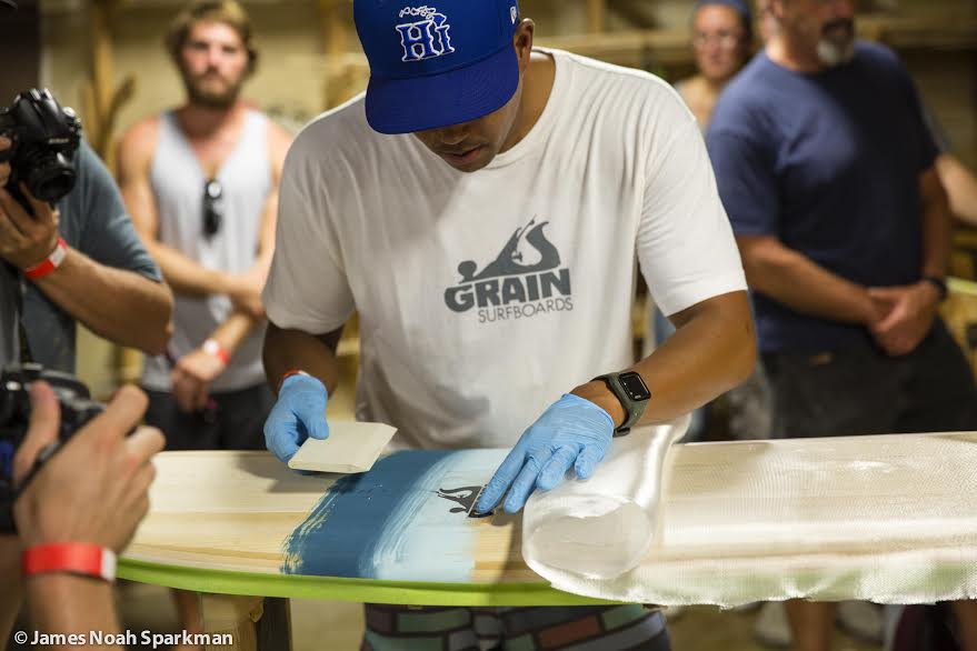 Grian surfboards event in Maine