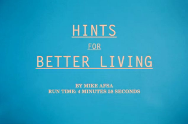 Hints For Better Living